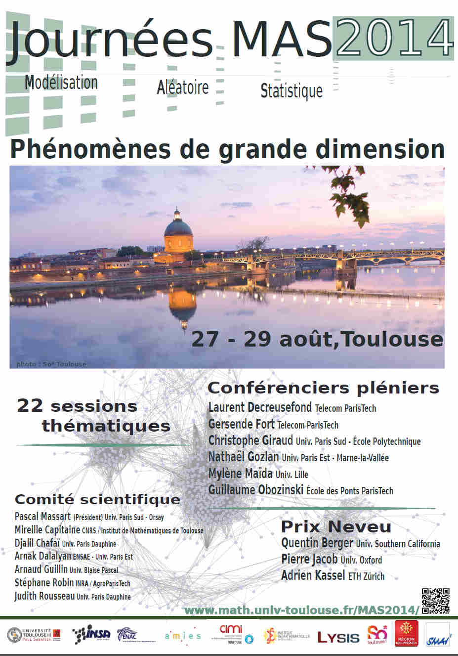 co organizer of the journes mas 2014 and the 2015 cimi machine learning trimester